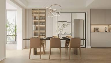 130平米三室两厅现代简约风格餐厅欣赏图