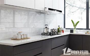 富裕型90平米三室一厅现代简约风格厨房装修图片大全
