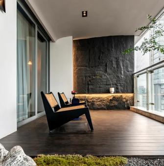 20万以上140平米三室两厅日式风格阳台装修案例