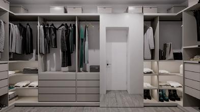 富裕型70平米三室两厅现代简约风格衣帽间图