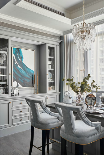 15-20万140平米复式美式风格餐厅图片大全