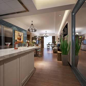130平米四室两厅田园风格餐厅设计图