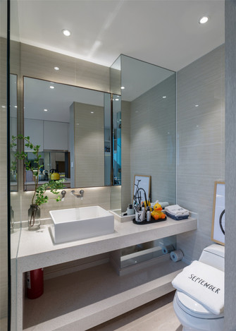 5-10万50平米一室一厅北欧风格卫生间欣赏图