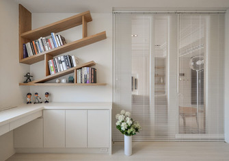 110平米日式风格书房效果图