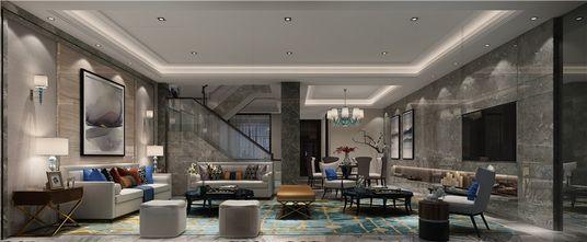 豪华型140平米别墅港式风格客厅图片