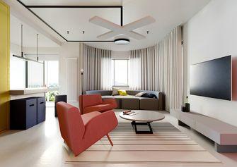 富裕型110平米三室一厅混搭风格客厅图