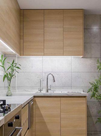 富裕型100平米三室一厅日式风格厨房效果图