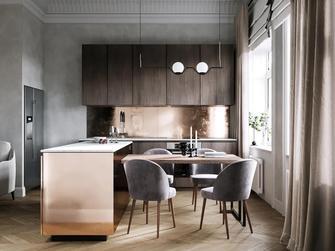 70平米三室两厅新古典风格厨房欣赏图
