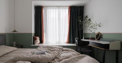 富裕型90平米英伦风格卧室欣赏图