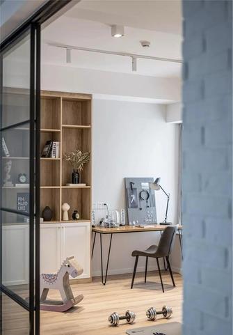 经济型120平米三室一厅北欧风格书房图片