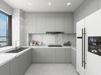 豪华型140平米三室四厅现代简约风格厨房装修案例