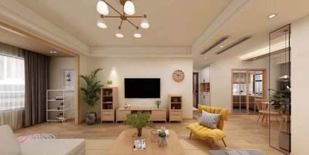 5-10万80平米公寓现代简约风格客厅效果图