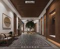 20万以上140平米别墅混搭风格走廊设计图
