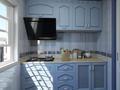 富裕型80平米三室两厅地中海风格厨房装修图片大全