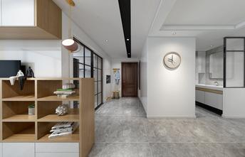 富裕型80平米三室两厅现代简约风格走廊图