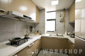 豪华型100平米三室两厅美式风格厨房图片大全