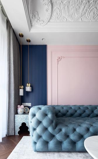 富裕型100平米四室两厅法式风格客厅装修图片大全