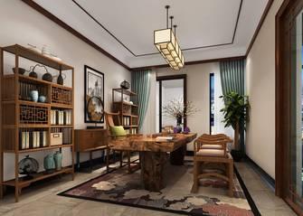 富裕型140平米四室两厅欧式风格书房图