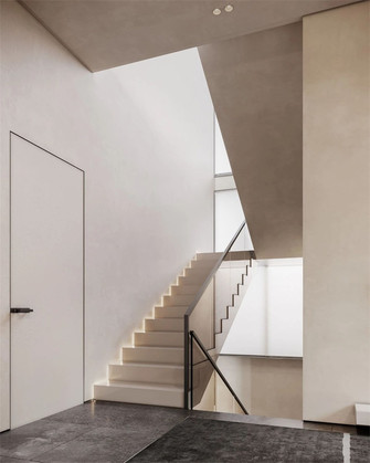 15-20万140平米别墅现代简约风格楼梯间装修案例