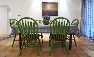 100平米三地中海风格餐厅图片