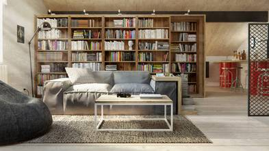 140平米复式北欧风格客厅装修图片大全