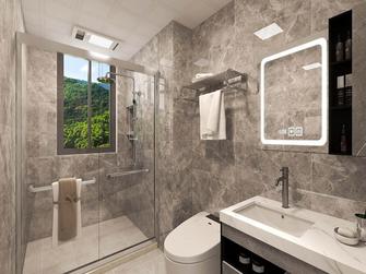 富裕型110平米三现代简约风格卫生间欣赏图