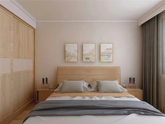 100平米三室一厅日式风格卧室设计图