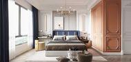 豪华型140平米三室两厅法式风格卧室装修效果图