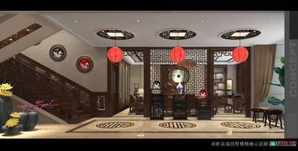 豪华型140平米别墅欧式风格楼梯间欣赏图