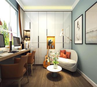 10-15万110平米三室两厅北欧风格书房效果图