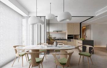 豪华型140平米三室一厅现代简约风格餐厅图