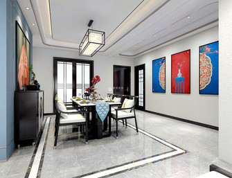 5-10万140平米四中式风格餐厅图片大全
