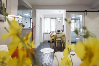 经济型80平米三混搭风格餐厅装修效果图