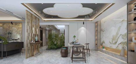 140平米中式风格书房设计图