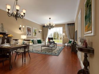 富裕型100平米美式风格客厅图片大全