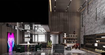 140平米港式风格餐厅效果图