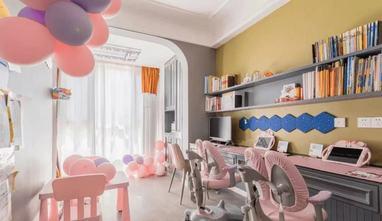 富裕型140平米三室两厅混搭风格青少年房欣赏图