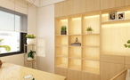 90平米一居室日式风格书房装修效果图