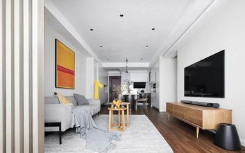 富裕型80平米三室三厅北欧风格客厅欣赏图