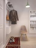 5-10万50平米一室一厅北欧风格玄关装修案例
