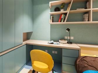 富裕型120平米三室一厅地中海风格书房设计图