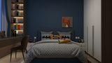 富裕型70平米北欧风格卧室装修案例