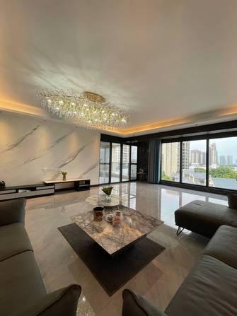 豪华型140平米四室三厅现代简约风格客厅装修图片大全