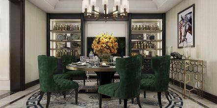 20万以上140平米别墅美式风格餐厅设计图