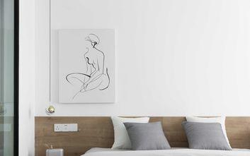 经济型90平米三室一厅北欧风格卧室设计图