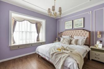 富裕型110平米三室两厅欧式风格卧室欣赏图