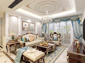 富裕型120平米欧式风格客厅设计图
