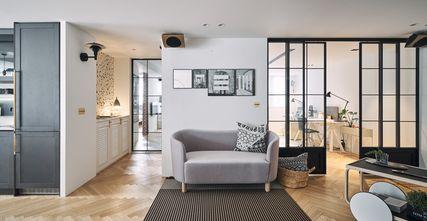 经济型130平米三室一厅北欧风格客厅装修案例