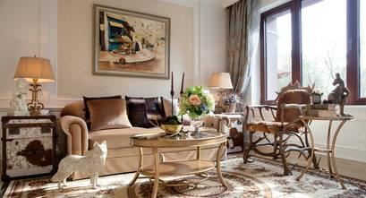 豪华型140平米复式欧式风格客厅效果图