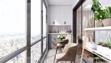 富裕型130平米四室两厅美式风格阳台图